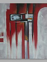 abordables -Peinture à l'huile Hang-peint Peint à la main - Abstrait / Personnage Moderne Toile