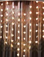 Недорогие -2м Гирлянды 78 светодиоды Тёплый белый Декоративная 220-240 V 1 комплект