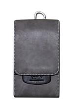Недорогие -Муж. Мешки Кожа Мобильный телефон сумка Сплошной цвет Черный / Серый / Кофейный