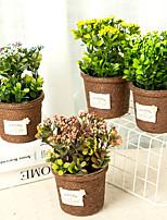 abordables -Fleurs artificielles 1 Une succursale Classique / Simple Elégant / Moderne Plantes / Vase Fleur de Table