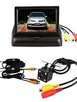 """baratos -BYNCG 4.3ZD 4.3 polegada TFT-LCD 480 TVL 480p CMOS Colorido de 1/4"""" Com Fio 120 Graus 1 pcs 120 ° 4.3 polegada Camêra Traseira / Monitor de inversão de carro / Kit de visão traseira do carro"""