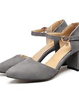 Недорогие -Жен. Комфортная обувь Полиуретан Весна Обувь на каблуках На толстом каблуке Черный / Серый / Розовый