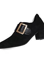 baratos -Mulheres Fashion Boots Couro Ecológico Outono Casual Botas Salto Robusto Botas Curtas / Ankle Preto / Marron