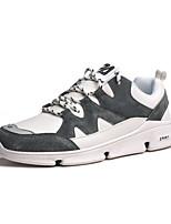 baratos -Homens Sapatos Confortáveis Couro Ecológico Outono Casual Tênis Não escorregar Estampa Colorida Branco / Preto / Cinzento