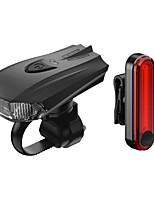 Недорогие -Передняя фара для велосипеда Светодиодная лампа Велосипедные фары Велоспорт Водонепроницаемый, Быстросъемный, Градиент цвета Литий-ионная 100 lm AAA-батарея / Работает от USB Красный