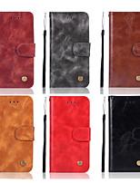 Недорогие -Кейс для Назначение Huawei Huawei Honor 8X / Honor 10 Кошелек / Бумажник для карт / со стендом Чехол Однотонный Твердый Кожа PU для Huawei Honor 10 / Honor 9 / Huawei Honor 9 Lite