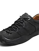 baratos -Homens Sapatos de couro Pele Napa Outono Vintage / Casual Oxfords Não escorregar Preto / Marron / Khaki