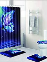 billiga -1set Moderna Duschmattor 100g / m2 Polyester Stretch Nyhet Rektangulär Badrum Färggradient