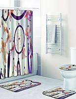 Недорогие -1 комплект Modern Коврики для ванны 100 г / м2 полиэфирный стреч-трикотаж Новинки Прямоугольная Ванная комната обожаемый
