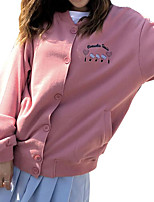 abordables -Femme Basique Pantalon - Géométrique Rose Claire / Col en V
