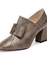 billiga -Dam Fashion Boots Mocka / Nappaskinn Vår Stövlar Bastant klack Stängd tå Korta stövlar / ankelstövlar Svart / Khaki grön