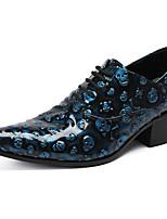 abordables -Homme Chaussures Formal Cuir Nappa Printemps été / Automne hiver Classique / Britanique Oxfords Ne glisse pas Bleu / Soirée & Evénement