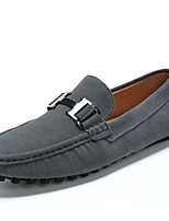 cheap -Men's Moccasin PU Spring & Summer Casual / British Loafers & Slip-Ons Walking Shoes Breathable Black / Blue / Gray