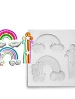 Недорогие -Инструменты для выпечки силикагель обожаемый / Творческая кухня Гаджет / Своими руками Повседневное использование / Торты / Для приготовления пищи Посуда Круглый Формы для пирожных 1шт