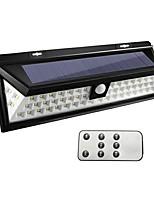 Недорогие -1шт 1 W Солнечный свет стены Водонепроницаемый / Дистанционно управляемый / Работает от солнечной энергии Белый 5.5 V Уличное освещение / двор / Сад 54 Светодиодные бусины