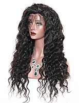 Недорогие -Натуральные волосы Лента спереди Парик Бразильские волосы Свободные волны Парик Глубокое разделение 130% Подарок / Горячая распродажа / Удобный Нейтральный Жен. Длинные