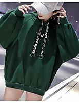 Недорогие -женский выход длинный рукав slim hoodie - письмо с капюшоном
