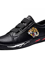 Недорогие -Муж. Комфортная обувь Полиуретан Осень На каждый день Кеды Нескользкий Контрастных цветов Черный / Красный