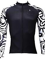 Недорогие -ILPALADINO Муж. Длинный рукав Велокофты - Черный Мода Велоспорт Джерси Верхняя часть, Флисовая подкладка Сохраняет тепло Ультрафиолетовая устойчивость, Зима, Эластан