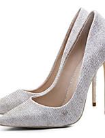 Недорогие -Жен. Комфортная обувь Полотно Весна Обувь на каблуках На шпильке Золотой / Серебряный / Синий