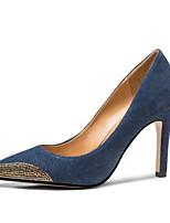Недорогие -Жен. Комфортная обувь Деним Весна Обувь на каблуках На шпильке Темно-синий / Светло-синий