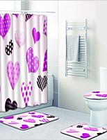 Недорогие -1 комплект Modern Коврики для ванны 100 г / м2 полиэфирный стреч-трикотаж Новинки Прямоугольная Ванная комната Очаровательный