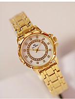 abordables -Femme Montre Bracelet Quartz Imitation de diamant Alliage Bande Analogique Mode Argent / Doré / Or Rose - Argent Doré Or Rose / Acier Inoxydable