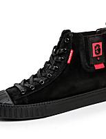 Недорогие -Муж. Комфортная обувь Кожа Зима Винтаж / На каждый день Кеды Сохраняет тепло Черный