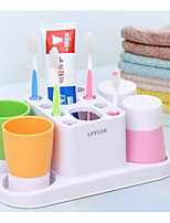 Недорогие -Стакан для зубных щеток Прост в применении Модерн ПВХ 4шт Зубная щетка и аксессуары