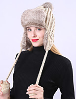 Недорогие -Жен. Классический / Праздник Широкополая шляпа - Плиссировка Однотонный