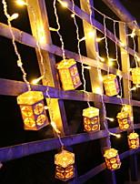 abordables -2m Guirlandes Lumineuses 104 LED Blanc Chaud Décorative 220-240 V 1 set