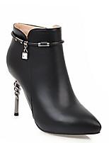Недорогие -Жен. Fashion Boots Полиуретан Осень Ботинки На шпильке Закрытый мыс Ботинки Желтый / Красный / Синий