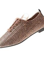 Недорогие -Жен. Комфортная обувь Полиуретан Осень На каждый день Кеды На плоской подошве Черный / Желтый / Коричневый