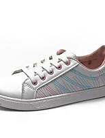 Недорогие -Жен. Комфортная обувь Полиуретан Лето Кеды На плоской подошве Красный / Синий / Розовый