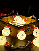 Недорогие -BRELONG® 1,2 м Гирлянды 10 светодиоды 2835 SMD Тёплый белый / RGB / Белый Творчество / Для вечеринок / Декоративная Аккумуляторы AA 1 комплект