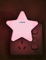Недорогие -BRELONG® 1шт Пентаграмма LED Night Light Белый От электросети Для детей / Креатив / Управление освещением 220-240 V