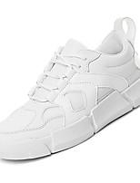 Недорогие -Муж. Комфортная обувь Сетка / Полиуретан Осень На каждый день Кеды Нескользкий Контрастных цветов Белый / Серый