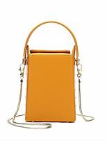 Недорогие -Жен. Мешки PU Мобильный телефон сумка Сплошной цвет Зеленый / Черный / Желтый
