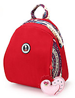 Недорогие -Жен. Мешки холст рюкзак Молнии Черный / Оранжевый / Красный