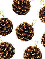 Недорогие -Праздничные украшения Рождественский декор Рождество Декоративная / Cool Кофейный 9pcs