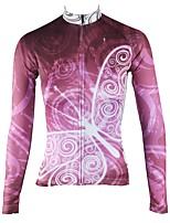 Недорогие -ILPALADINO Жен. Длинный рукав Велокофты - Фиолетовый Мода Велоспорт Верхняя часть Зима, Эластан