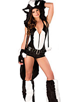 Недорогие -униформы Fox Girl Косплэй Kостюмы Костюм для вечеринки Костюм Необычные костюмы Жен. Взрослые Старшая школа Косплей Хэллоуин Хэллоуин Карнавал Маскарад Фестиваль / праздник Инвентарь Черный