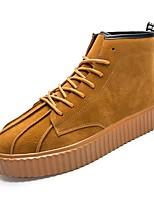 Недорогие -Муж. Комфортная обувь Полиуретан Зима Кеды Черный / Коричневый