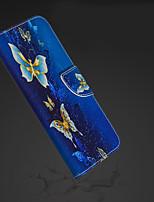 Недорогие -Кейс для Назначение Apple iPhone XR / iPhone XS Max Кошелек / Бумажник для карт / со стендом Чехол Бабочка Твердый Кожа PU для iPhone XS / iPhone XR / iPhone XS Max