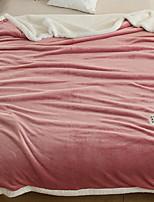 Недорогие -Фланель, Активный краситель Однотонный Хлопок / полиэфир одеяла