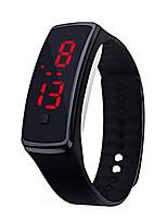 Недорогие -Муж. электронные часы Цифровой 30 m Защита от влаги ЖК экран силиконовый Группа Цифровой На каждый день Мода Черный / Белый / Синий - Красный Зеленый Синий