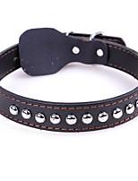abordables -Chiens / Chats Colliers / Cravate / Noeud Papillon Ajustable / Portable / Mini Couleur Pleine Similicuir Marron / Noir