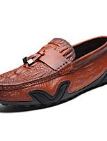 Недорогие -Муж. Мокасины Наппа Leather Осень Классика / На каждый день Мокасины и Свитер Водостойкий Черный / Коричневый