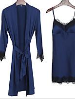 abordables -Femme Costumes Vêtement de nuit Dentelle, Couleur Pleine / A Bretelles
