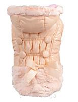 baratos -Cachorros / Gatos Casacos Roupas para Cães Sólido / Simples / Laço Rosa claro Pele Falsa Ocasiões Especiais Para animais de estimação Feminino Mantenha Quente / Fashion